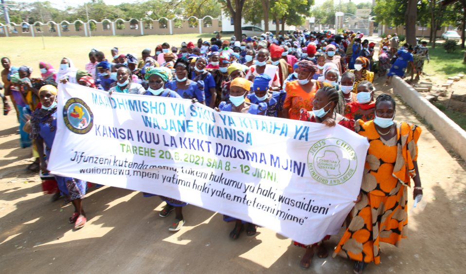 Celebration of the National widow's day by the Church members of the CCT in Dodoma 20th, June, 2021