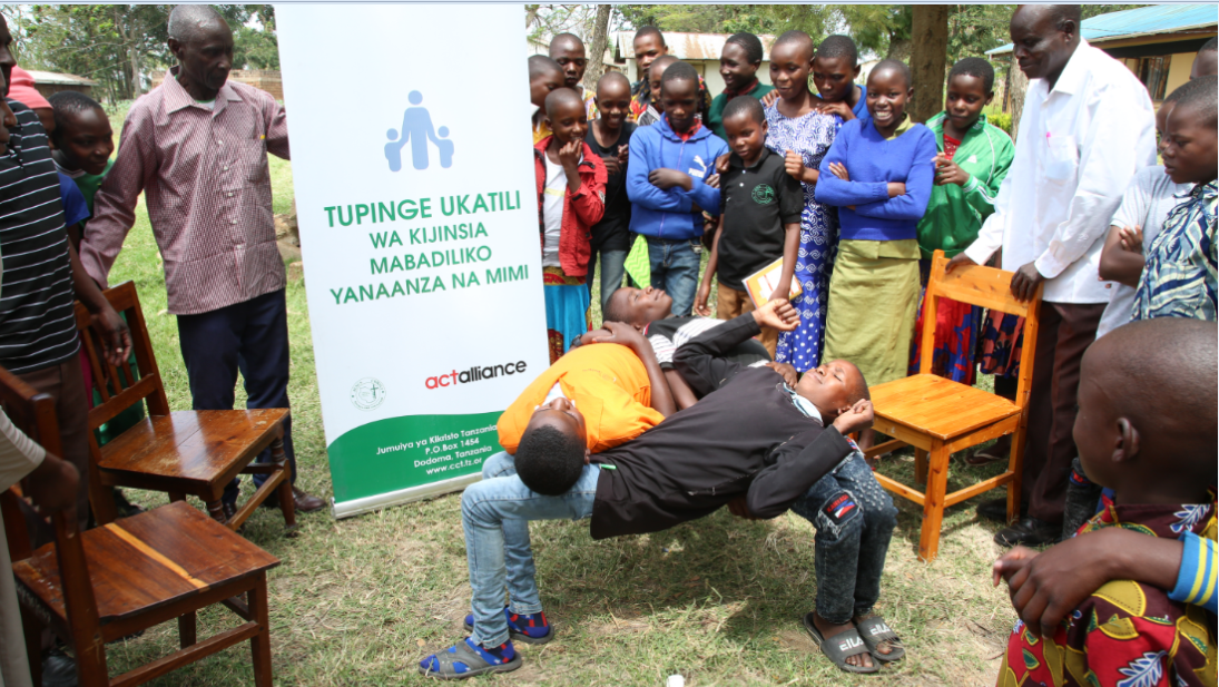 Children in Mara Region used Sports to protest against gender based violence during the commemoration of the African Child Day, June 16 2021